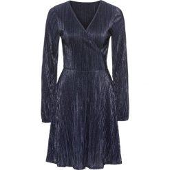 Sukienki: Sukienka plisowana z dżerseju z połyskiem bonprix ciemnoniebieski