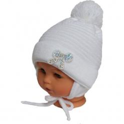 Czapka niemowlęca z szalikiem CZ+S 009A. Szare czapeczki niemowlęce Proman. Za 36,70 zł.