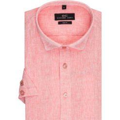 Koszula SIMONE KLRS500007. Czerwone koszule męskie na spinki Giacomo Conti, m, z bawełny, z klasycznym kołnierzykiem, z krótkim rękawem. Za 149,00 zł.