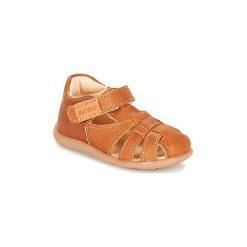 Sandały Dziecko  Kavat  RULLSAND. Czerwone sandały dziewczęce marki Born2be, z materiału, z otwartym noskiem, na zamek. Za 247,20 zł.