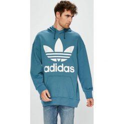 Adidas Originals - Bluza. Niebieskie bejsbolówki męskie adidas Originals, l, z nadrukiem, z bawełny, z kapturem. W wyprzedaży za 319,90 zł.