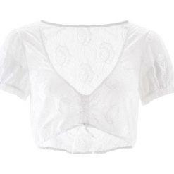 Bluzka koronkowa do sukienki ludowej bonprix biały. Białe bralety marki bonprix, z koronki. Za 74,99 zł.