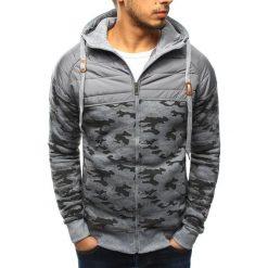 Bluzy męskie: Bluza męska rozpinana szara z kapturem (bx3214)