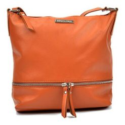 Torebki klasyczne damskie: Skórzana torebka w kolorze jasnobrązowym – (S)24 x (W)32 x (G)11,5 cm