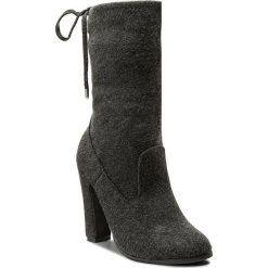 Kozaki BIG STAR - Y274218 Dk. Grey. Szare buty zimowe damskie BIG STAR, z materiału. W wyprzedaży za 169,00 zł.