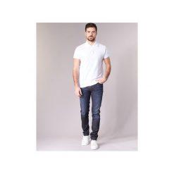 Jeansy slim fit Sisley  FLAGADU. Niebieskie jeansy męskie Sisley, z jeansu. Za 335,20 zł.