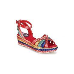 Sandały Miss L'Fire  RAPHAEL. Czerwone sandały trekkingowe damskie Miss L'Fire. Za 356,30 zł.