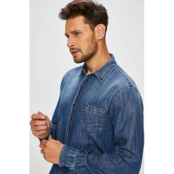 Trussardi Jeans - Koszula. Szare koszule męskie jeansowe marki Trussardi Jeans, z klasycznym kołnierzykiem, z długim rękawem. Za 539,90 zł.