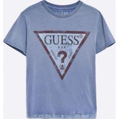 Guess Jeans - T-shirt dziecięcy 118-176 cm. Szare t-shirty chłopięce z nadrukiem marki Guess Jeans, l, z bawełny. W wyprzedaży za 89,90 zł.