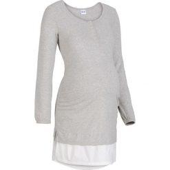 Koszula nocna do karmienia bonprix jasnoszary melanż. Szare bielizna ciążowa bonprix, melanż. Za 54,99 zł.