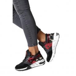Czarne buty sportowe sneakersy sznurowane Casu 7-K587A. Czarne buty sportowe damskie marki Casu. Za 79,99 zł.