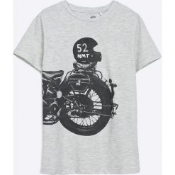 Name it - T-shirt Dziecięcy 122-158 cm. Szare t-shirty chłopięce z nadrukiem Name it, z bawełny, z okrągłym kołnierzem. Za 49,90 zł.