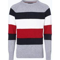 Tommy Hilfiger - Sweter męski, szary. Szare swetry klasyczne męskie TOMMY HILFIGER, l, w paski, z bawełny. Za 549,95 zł.