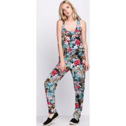 Kombinezony damskie: Niebieski Kombinezon Rose Petals