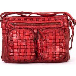 Torebki klasyczne damskie: Skórzana torebka w kolorze czerwonym – 31 x 22 x 7 cm