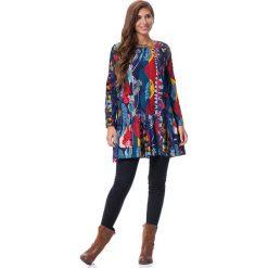 Długie sukienki: Sukienka w kolorze granatowym ze wzorem