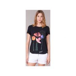 T-shirty z krótkim rękawem Desigual  RAMIZOLA. Czarne t-shirty damskie Desigual, m. Za 200,85 zł.