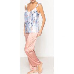 Piżamy męskie: Piżama z kwiecistej satyny