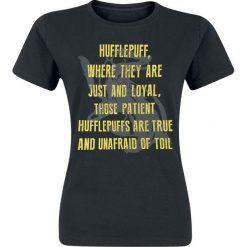 Bluzki asymetryczne: Harry Potter Hufflepuff Koszulka damska czarny