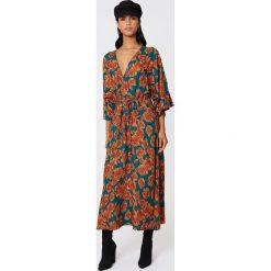 Sukienki: NA-KD Boho Sukienka-płaszcz - Green,Orange