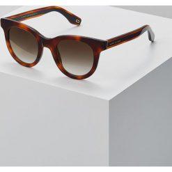 Marc Jacobs Okulary przeciwsłoneczne mottled dark brown. Brązowe okulary przeciwsłoneczne damskie aviatory Marc Jacobs. Za 759,00 zł.