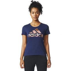 Adidas Koszulka damska BOS FOIL granatowa r. L (CD1954). Szare topy sportowe damskie Adidas, l. Za 69,99 zł.