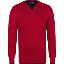 """Swetry klasyczne męskie: Sweter """"Casual"""" w kolorze czerwonym"""