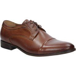 Brązowe buty wizytowe skórzane sznurowane brąz palony DUO MEN 01730E-02-L-P-010. Brązowe buty wizytowe męskie Duo Men, na sznurówki. Za 238,99 zł.