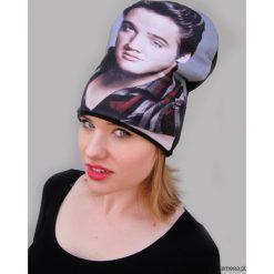 Czapka #elvis. Szare czapki damskie Pakamera, na zimę, z dzianiny. Za 93,00 zł.