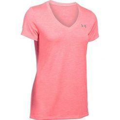 T-shirt w kolorze różowym. T-shirty damskie marki Under Armour, xs, z tkaniny, z okrągłym kołnierzem. W wyprzedaży za 59,95 zł.