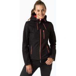 Superdry - Kurtka damska typu softshell, czarny. Szare kurtki damskie marki Superdry, l, z nadrukiem, z bawełny, z okrągłym kołnierzem. Za 249,95 zł.
