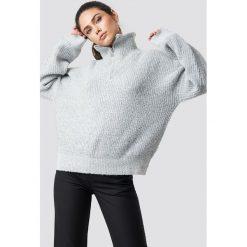 Swetry damskie: NA-KD Trend Sweter z suwakiem - Grey