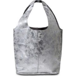 Torba shopper bonprix srebrny kolor. Szare shopper bag damskie marki Monnari, w paski, ze skóry ekologicznej. Za 59,99 zł.