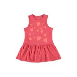 Esprit  Girls Sukienka corallred - pomarańczowy. Brązowe sukienki niemowlęce Esprit, z bawełny. Za 59,00 zł.