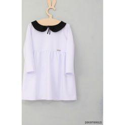 Sukienka czarno biała. Białe sukienki dziewczęce z falbanami Pakamera, z jersey. Za 129,00 zł.