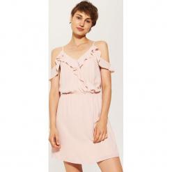Sukienka cold shoulder - Różowy. Czarne sukienki marki House, l, w kwiaty. W wyprzedaży za 29,99 zł.