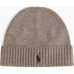 Polo Ralph Lauren - Czapka męska, szary. Szare czapki męskie Polo Ralph Lauren, z haftami, z dzianiny, klasyczne. Za 229,95 zł.
