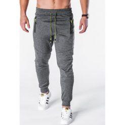 Spodnie dresowe męskie: SPODNIE MĘSKIE DRESOWE P629 - GRAFITOWE