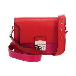 Torebki klasyczne damskie: Skórzana torebka w kolorze czerwonym – (S)23 x (W)15 x (G)8 cm