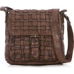 Torebki klasyczne damskie: Skórzana torebka w kolorze brązowym – 21 x 19 x 7 cm
