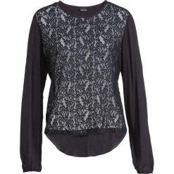 Bluzki damskie: Prześwitująca bluzka koronkowa bonprix czarny