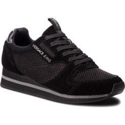 Sneakersy VERSACE JEANS - E0VSBSA2  70845 899. Czarne sneakersy damskie Versace Jeans, z jeansu. Za 589,00 zł.