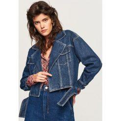 Jeansowa kurtka - Granatowy. Niebieskie kurtki damskie jeansowe Reserved. Za 159,99 zł.