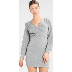 Sukienki hiszpanki: WAL G. WRAP MINI DRESS Sukienka koktajlowa silver