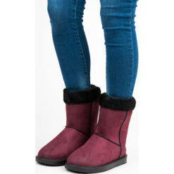 Buty zimowe damskie: Bordowe śniegowce damskie CAMILLA