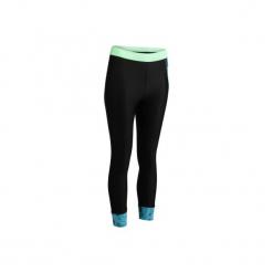 Legginsy 7/8 fitness kardio 500 damskie. Czarne legginsy damskie do fitnessu marki DOMYOS, z elastanu. W wyprzedaży za 44,99 zł.