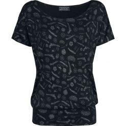 Supernatural Symbol Allover Koszulka damska czarny. Czarne bluzki z odkrytymi ramionami Supernatural, l, z nadrukiem, z dekoltem w łódkę, z krótkim rękawem. Za 99,90 zł.