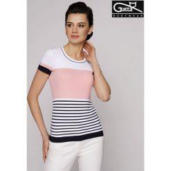 GATTA Koszulka damska Adria 8s granatowo-biało-różowa r. L. T-shirty damskie Gatta, l. Za 63,98 zł.