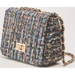 Kolorowa torebka na łańcuszku - Wielobarwn. Szare torebki klasyczne damskie House, w kolorowe wzory. Za 69,99 zł.