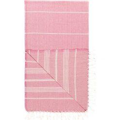 Chusta hammam w kolorze różowym - 180 x 100 cm. Czarne chusty damskie marki Hamamtowels, z bawełny. W wyprzedaży za 43,95 zł.